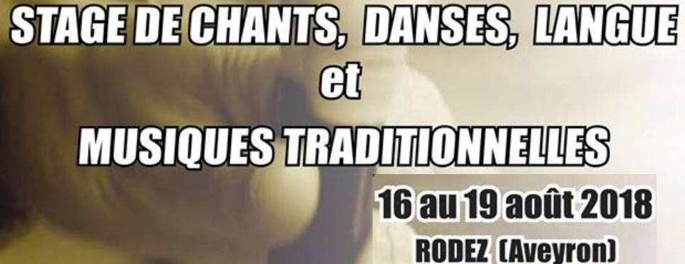 Stage de chants, danses, langue et musique traditionnelles