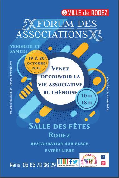 Forum des association Rodez le 19 et 20 octobre 2018